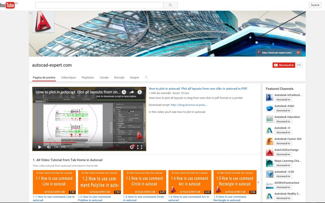 Canalul youtube autocad-expert.com