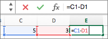 Formule Excel Scadere