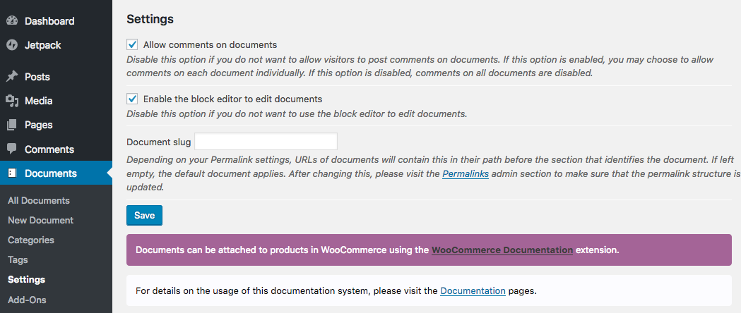 WordPress Documentatie