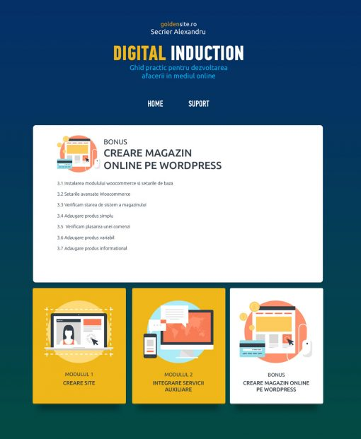 Curs creare site pe wordpress - realizare magazin pe woocommerce