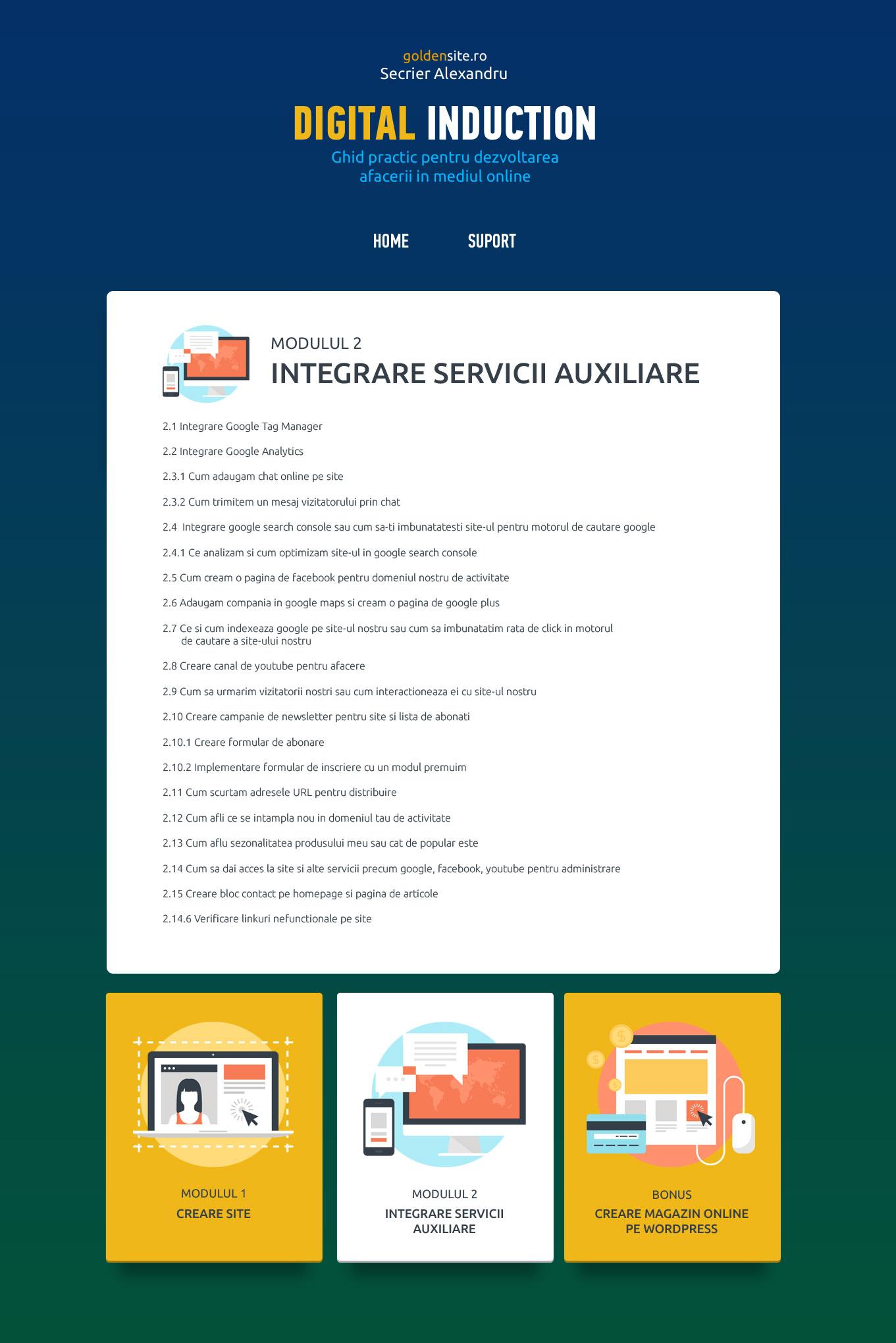Modulul 2 - Integrare Servicii Auxiliare